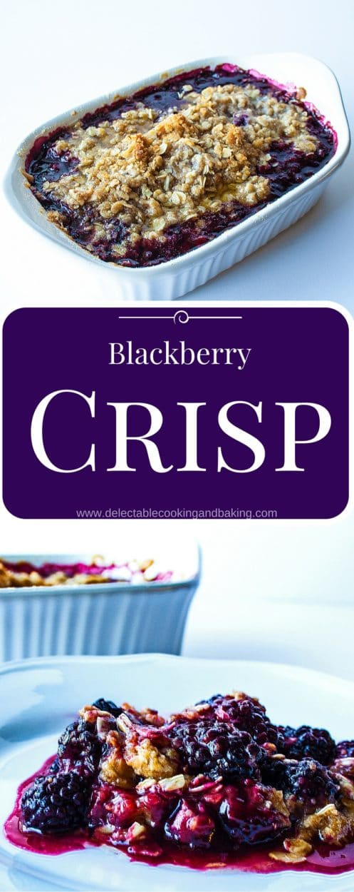 Blackberry Crisp Recipe at Delectable, www.delectablecookingandbaking.com