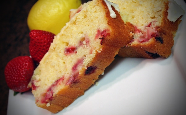 Lemon Strawberry Bread with Lemon Zest Icing Recipe