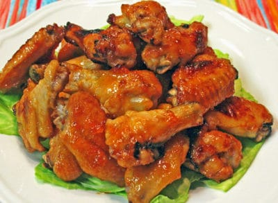 Apricot Sriracha Glazed Chicken Wings Recipe