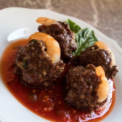 Smoked Shrimp In Italian Meatballs