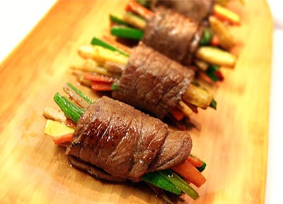 Top Sirloin Teriyaki Steak Rolls Recipe, BakeItWithLove.com