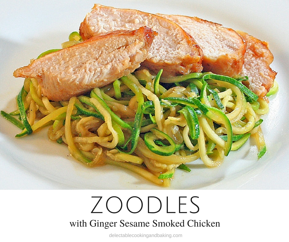 Zoodles with ginger sesame teriyaki smoked chicken breasts for Zoodles kitchen set