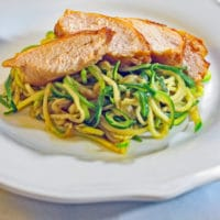 Zoodles With Ginger Sesame Teriyaki Smoked Chicken Breasts
