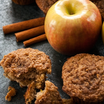 Apple Banana Muffins with Streusel Topping, www.bakeitwithlove.com