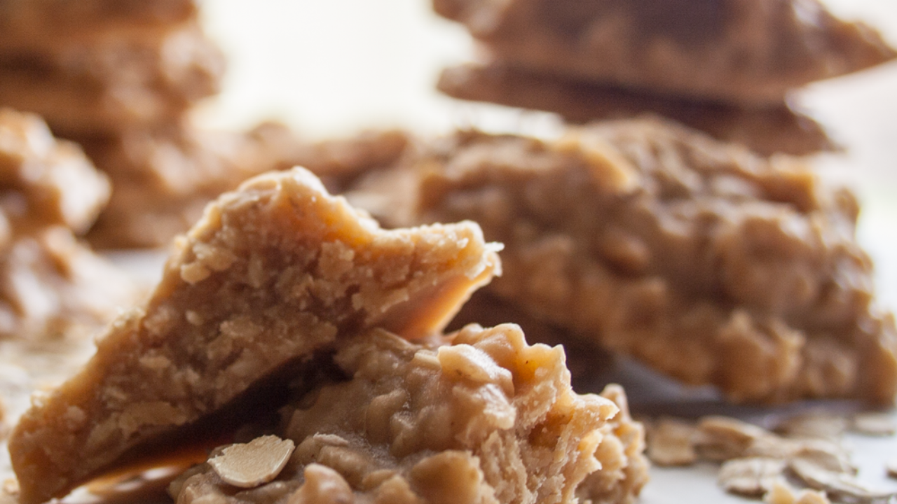 Peanut Butter Oatmeal No Bake Cookies Bake It With Love