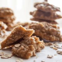 Peanut Butter Oatmeal No Bake Cookies + VIDEO
