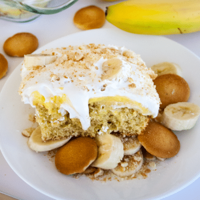 Banana Pudding Poke Cake + VIDEO