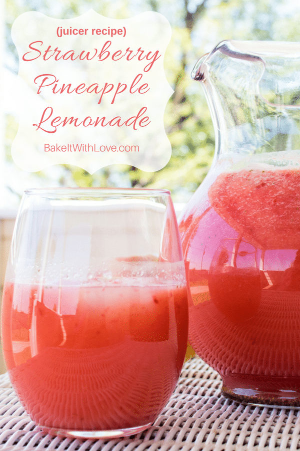 Strawberry Pineapple Lemonade Juicer Recipe