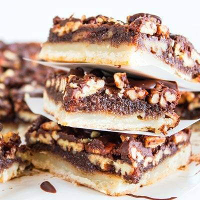 Chocolate Pecan Slab Pie Bars