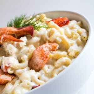 White Cheddar Lobster Macaroni and Cheese + VIDEO