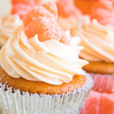 Orange Crush Soda Cupcakes with Orange Crush Soda Buttercream Frosting + VIDEO