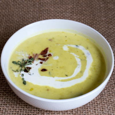 Potato Leek Soup with Bacon and Chives + VIDEO