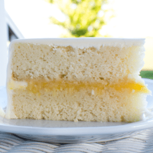 Homemade White Cake loaded with vanilla flavor, light and airy and easy to make from scratch recipe