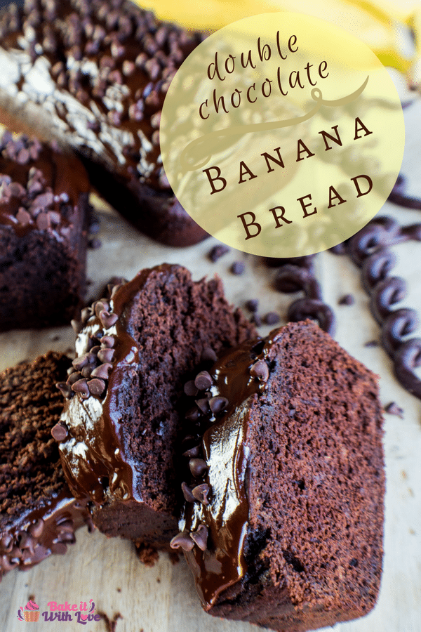 Double Chocolate Banana Bread is the best chocolate banana bread (without chocolate chips)!!