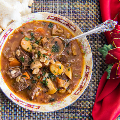 This Leftover Prime Rib Beef Barley Soup with Mushrooms is the perfect use for your prime rib roast leftovers!