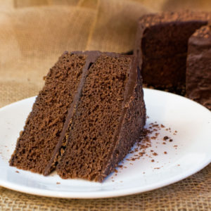 Fudge Cake with Fudge Frosting
