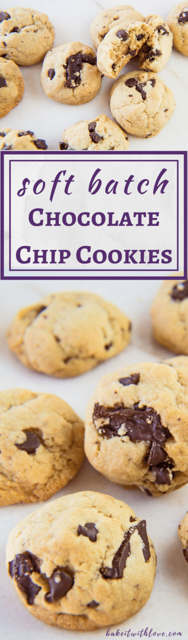 Perfect Soft Batch Chocolate Chip Cookies at bakeitwithlove.com