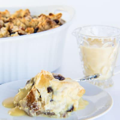Irish Soda Bread Pudding with Bailey's Crème Anglaise