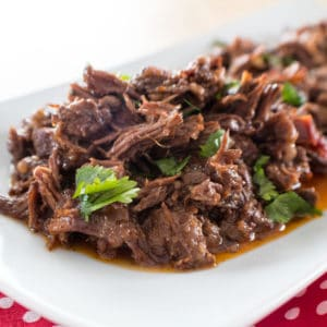 Instant Pot Chipotle Barbacoa Beef Cheeks